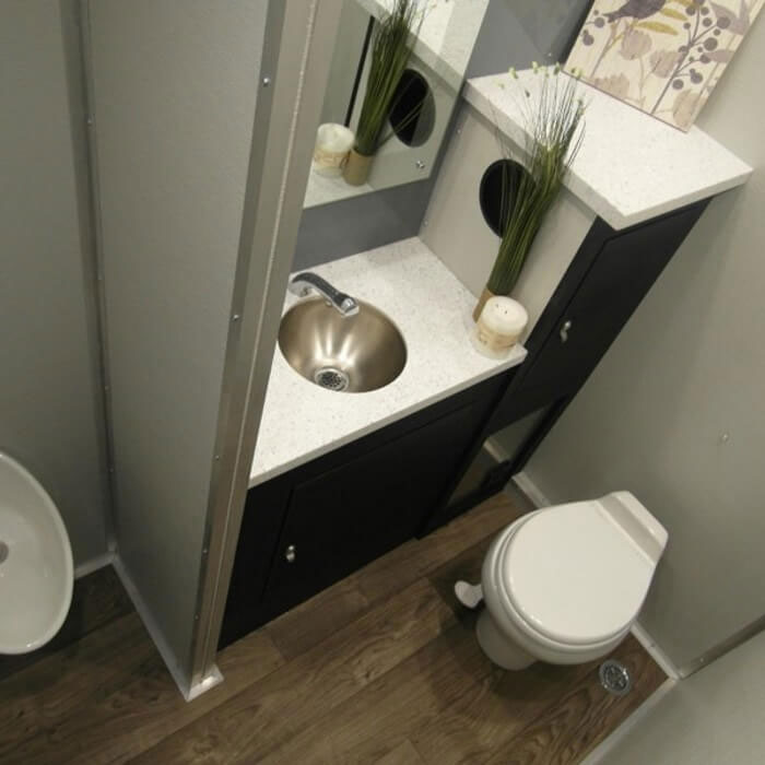 Santa Fe Luxury Bathroom Trailer Interior