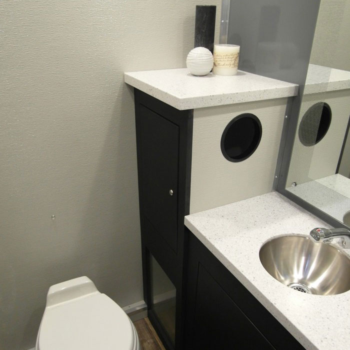 Santa Fe Luxury Bathroom Trailer Interior